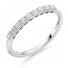 Platinum 9-stone .33ct Diamond Eternity Ring