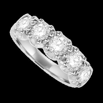 Platinum 5-stone 1.50ct Diamond Loop Eternity Ring