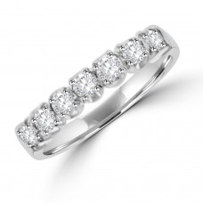 Platinum 7-stone Diamond Loopy Eternity Ring