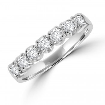 Platinum 7-stone Diamond Loopy Eternity Ring