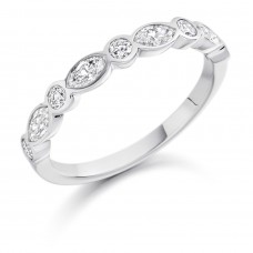 Platinum Marquise & Brill cut Diamond Eternity Ring
