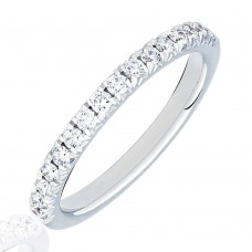 Platinum Diamond French Pave Eternity Ring