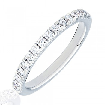 Platinum Diamond French Pave Eternity Ring