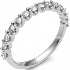 Platinum .55ct Diamond Shared Loopy Claw Eternity Ring