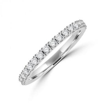 Platinum .40ct Diamond Castle set Eternity Ring