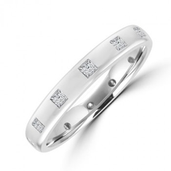 Platinum 12-stone Princess cut Diamond Wedding Ring