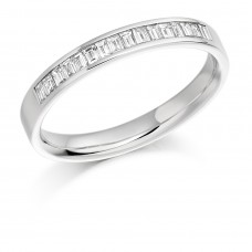 Platinum Baguette Diamond Wedding Ring