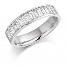 Platinum Baguette Diamond Wedding Band