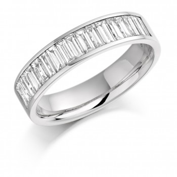 Platinum Baguette Diamond Wedding Band