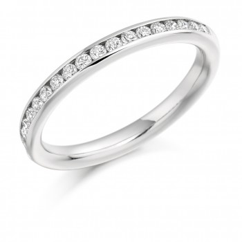 Platinum 17-Stone Diamond Wedding/Eternity Ring