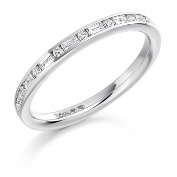 Platinum Baguette & Brilliant cut Diamond Wedding Ring