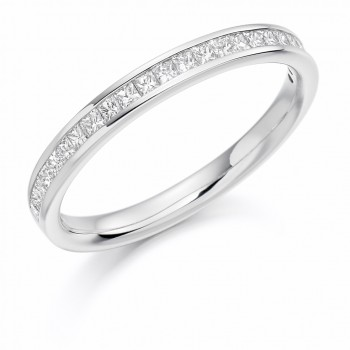 Platinum Princess cut .33ct Diamond Wedding/Eternity Ring