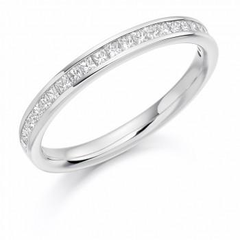 Platinum Princess cut .33ct Diamond Wedding/Eternity Ring