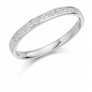 Platinum Princess cut .20ct Diamond Wedding/Eternity Ring