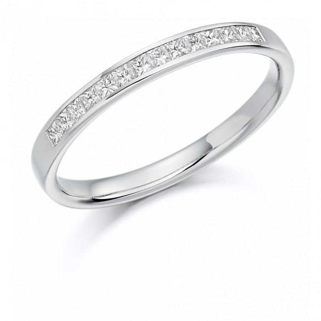 platinum princess cut 20ct wedding eternity ring