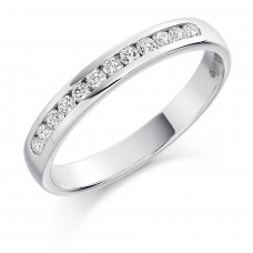 Platinum 12-stone Diamond Wedding Ring