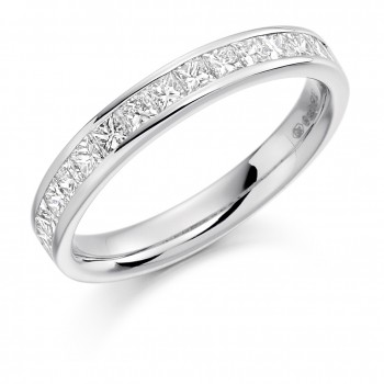 Platinum 14-stone Princess cut .75ct Diamond Wedding/Eternity
