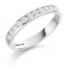 Platinum 12-stone .50ct Diamond Wedding/Eternity Ring