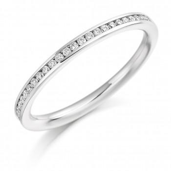 Platinum Diamond Channel Set Wedding Ring