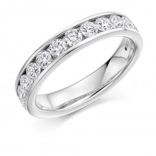 Platinum 1.00ct Diamond Channel Set Eternity Ring