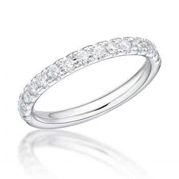 Platinum .32ct Diamond Castle set Eternity/ Wedding Ring