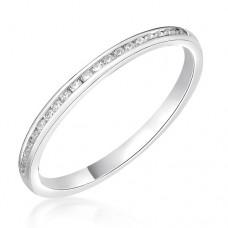 Platinum .15ct Diamond Channel set Wedding / Eternity Ring