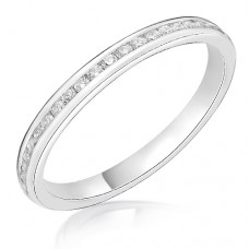 Platinum .19ct Diamond Channel set Wedding Ring