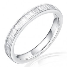 Platinum Baguette cut .20ct Diamond Wedding / Eternity Ring