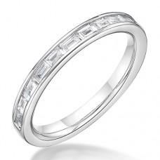 Platinum Baguette cut .31ct Diamond Eternity / Wedding Ring