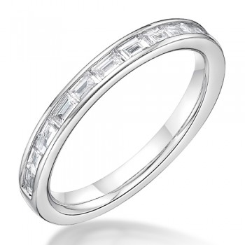 Platinum Baguette cut .31ct Diamond Eternity / Wedding Ring