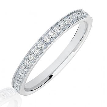 Platinum .20ct Diamond Micro claw set Eternity Ring