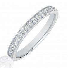 Platinum .25ct Diamond Micro Claw Set Wedding Ring