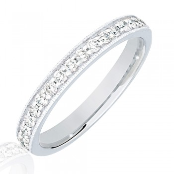 Platinum .33ct Diamond Micro Claw Set Wedding Ring