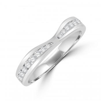 Platinum Diamond Graduated Shaped Eternity Ring