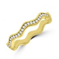 18ct Rose Gold Diamond Wave Ring