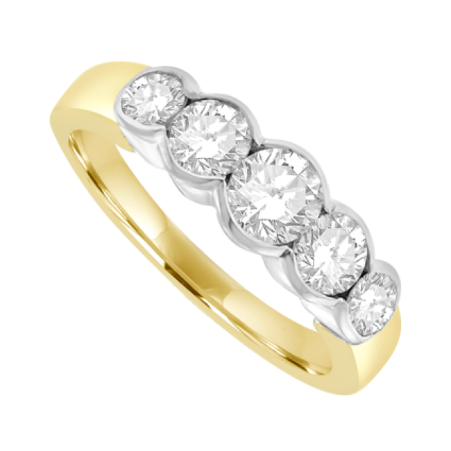 Rub Over Diamond Eternity Rings