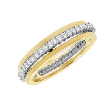 18ct Yellow & White Gold Revolving Eternity Ring