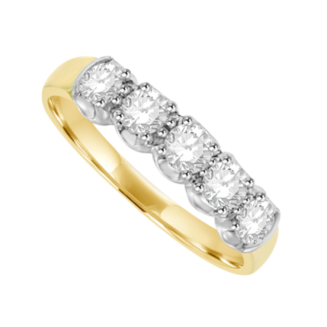 18ct gold 5 eternity ring