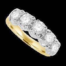 18ct Gold 5-Stone 1.27ct Diamond Eternity Ring