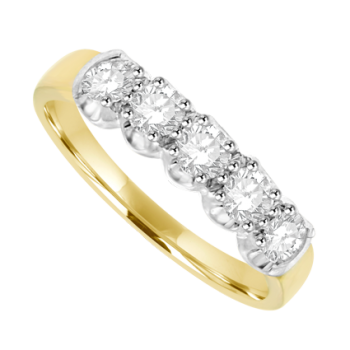 18ct Gold 5-stone Diamond Eternity Ring