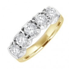 18ct 5st Diamond Eternity Style Ring