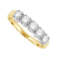 18ct Gold Five-stone Diamond Loopy Eternity Ring