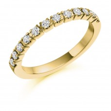 18ct Gold Castle set Diamond Eternity Ring
