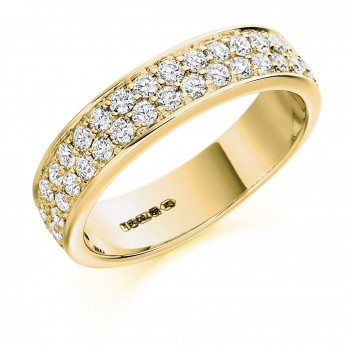 18ct Gold Double Row Diamond Eternity Ring
