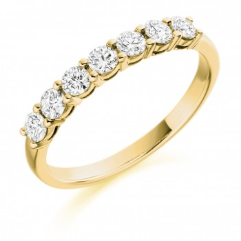 18ct Gold 7-stone Diamond Eternity Ring