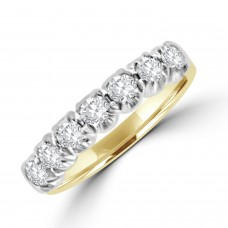 18ct Gold 7-stone Diamond Loopy style Eternity Ring