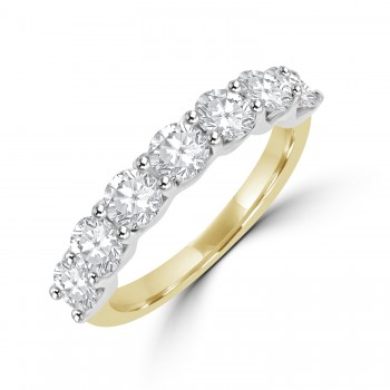 18ct Gold & Platinum 7-stone 1.52ct Diamond Eternity Ring