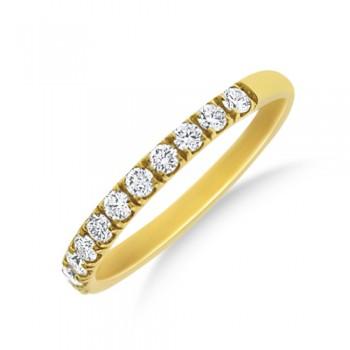 18ct Gold Castle set Diamond Wedding Eternity Ring