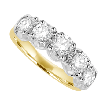 18ct Gold 5-stone Diamond
