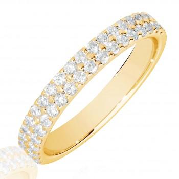 18ct Gold Double Row Diamond Eternity Ring